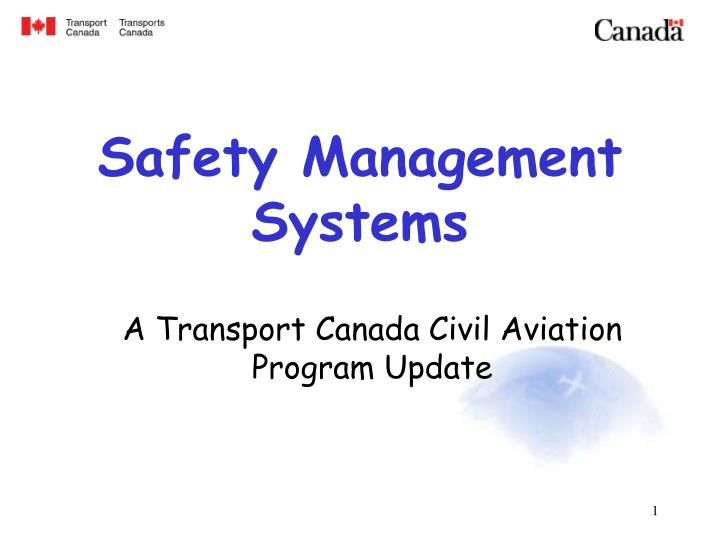 safety management systems n.