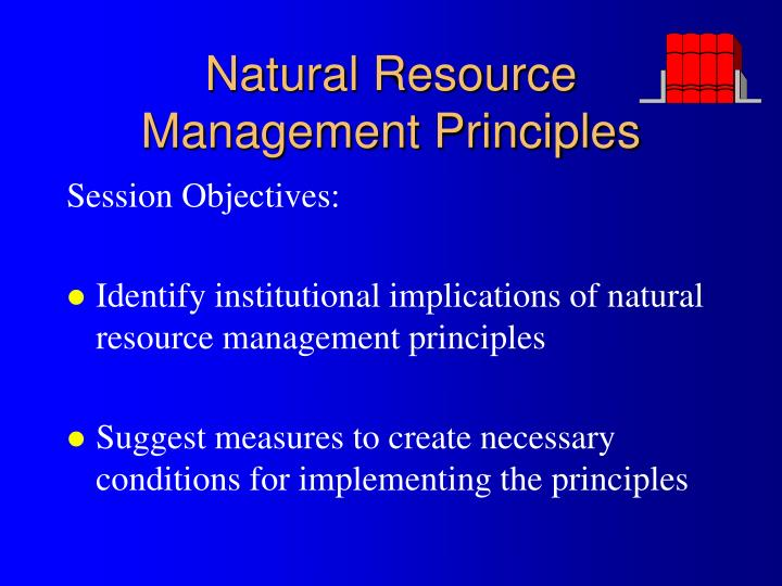 natural resource management principles n.
