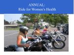 annual ride for women s health