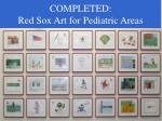 completed red sox art for pediatric areas