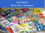 ongoing book drive volunteers