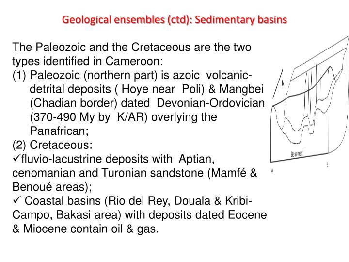 Geological ensembles (