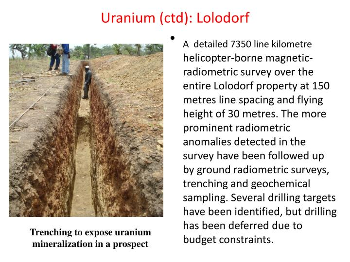 Uranium (ctd): Lolodorf