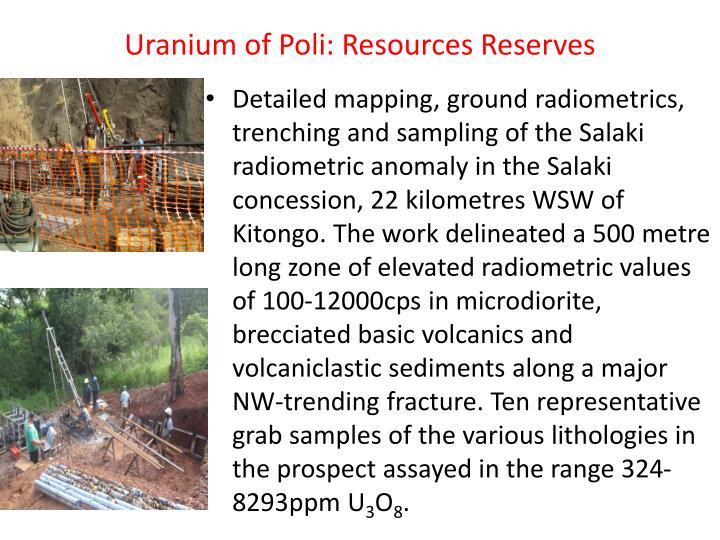 Uranium of Poli: Resources Reserves