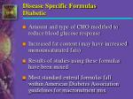 disease specific formulas diabetic