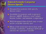 enteral formula categories disease specific