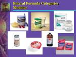 enteral formula categories modular