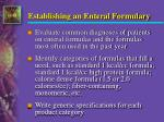 establishing an enteral formulary1