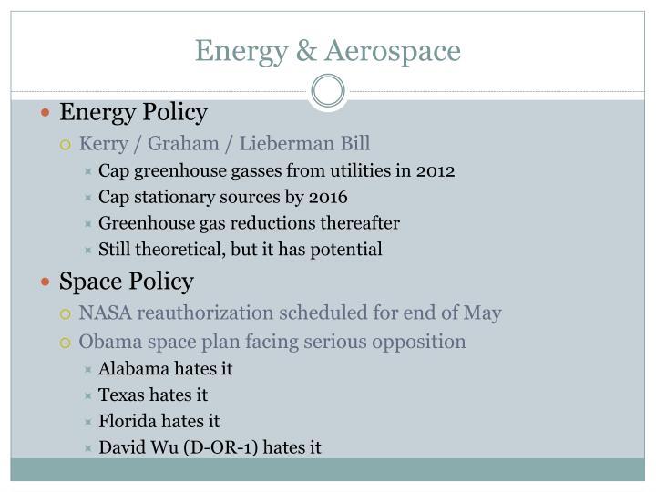 Energy & Aerospace