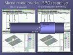 mixed mode cracks rpc response