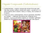 organic compounds carbohydrates