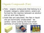 organic compounds fats
