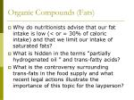 organic compounds fats1
