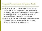 organic compounds organic acids