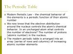 the periodic table2