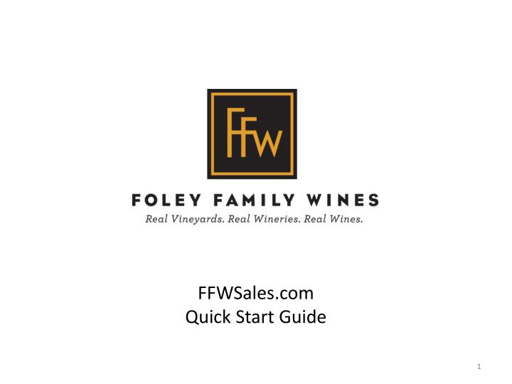 ffwsales com quick start guide n.