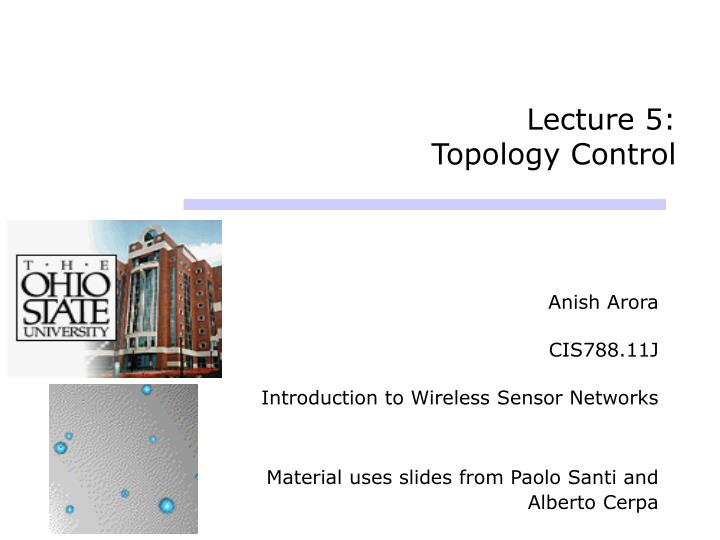 lecture 5 topology control n.