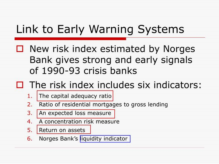 Link to Early Warning Systems