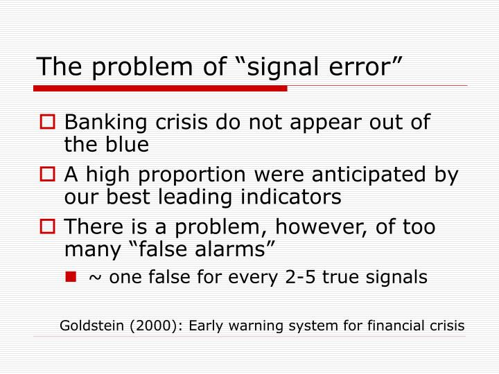 "The problem of ""signal error"""