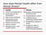 how does mental health differ from mental illness