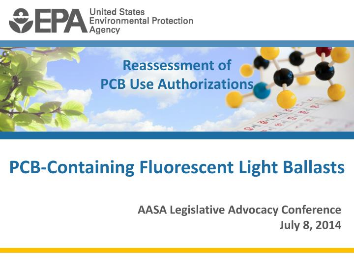 reassessment of pcb use authorizations n.