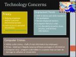 technology concerns