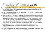 practice writing a lead