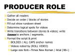 producer role