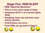 stage five rem sleep