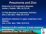 pneumonia and zinc