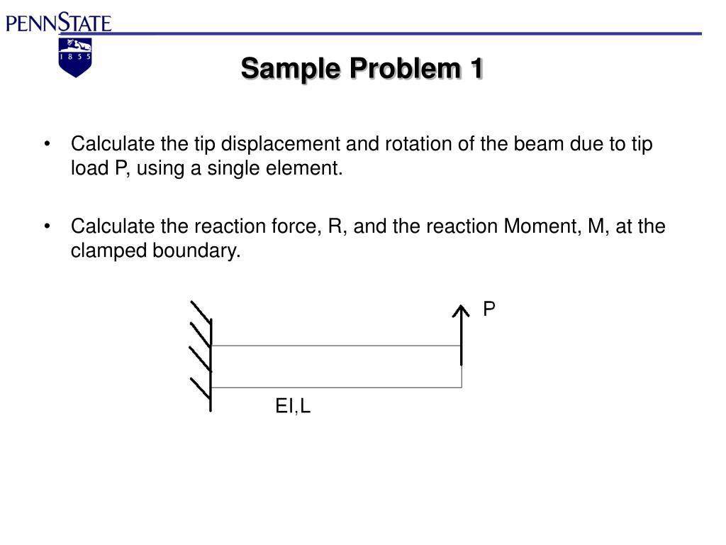 PPT - AERSP 301 Finite Element Method Beams PowerPoint