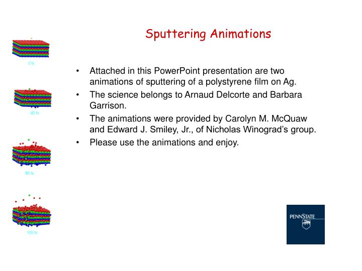 sputtering animations n.