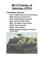 m113 family of vehicles fov
