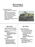 m113 family of vehicles fov1