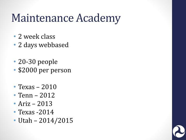 Maintenance Academy