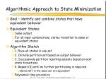 algorithmic approach to state minimization