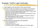example traffic light controller