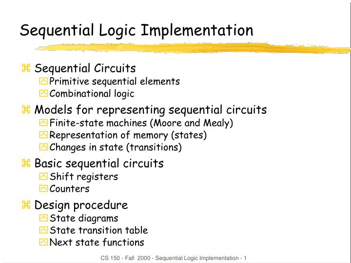 sequential logic implementation n.
