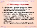 cdm strategy objectives