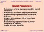 social parameters