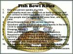 fish bowl rules