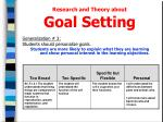 research and theory about goal setting1