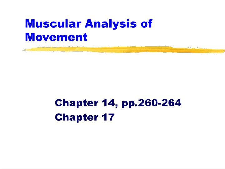 muscular analysis of movement n.