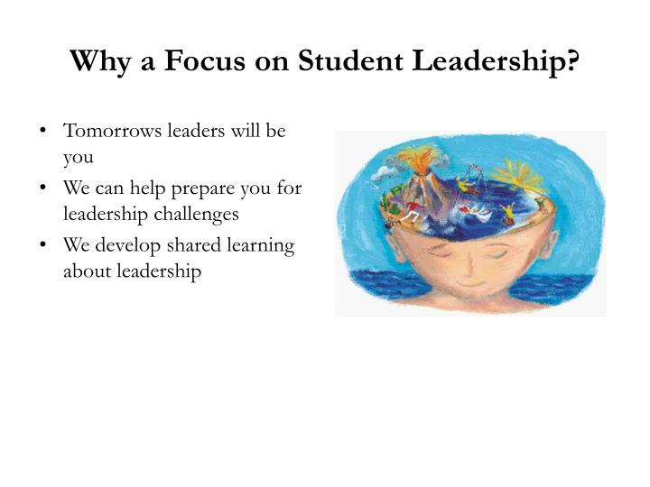 Why a focus on student leadership