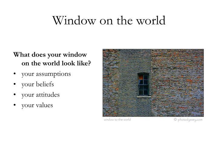 Window on the world