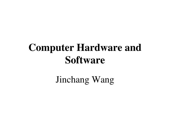 computer hardware and software n.