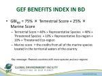 gef benefits index in bd