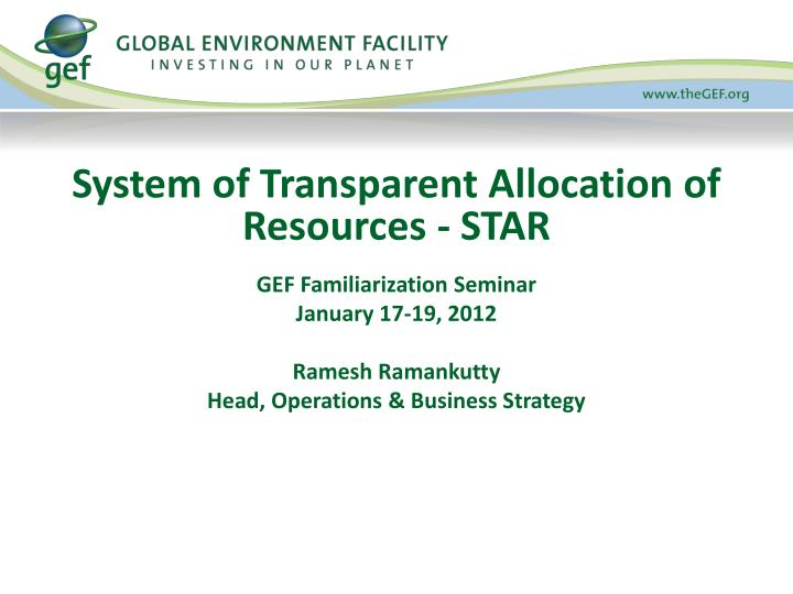 system of transparent allocation of resources star n.