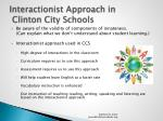interactionist approach in clinton city schools