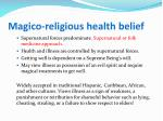 magico religious health belief